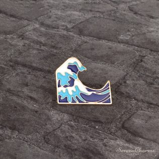 Sea Wave Brooch