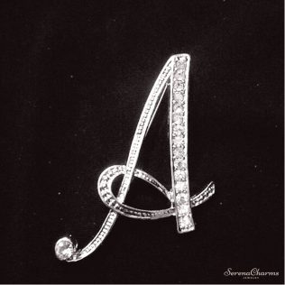 A To Z Letters Design Brooch