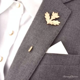 Lapel Pin With Flower
