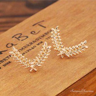 Metal Wheat Brooch