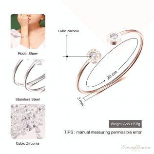 Adjustable Open Stainless Steel Bracelet Bangle