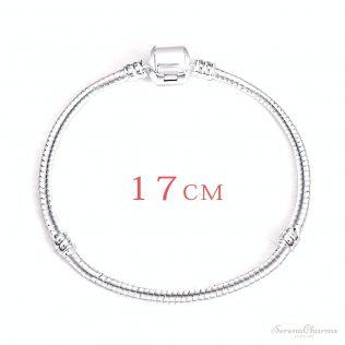 Hot Silver Love Snake Chain Bracelet