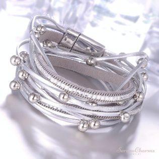 Multiple Layers Charm Leather Bracelet