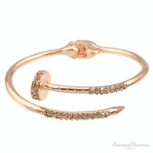 Rhinestone Open Cuff Bracelet