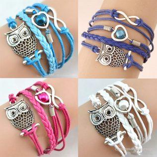 Infinity Friendship Multilayer Charm Leather Bracelet