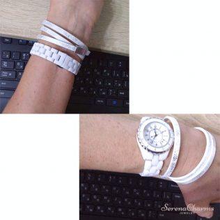 Magnet Wrap Leather Bracelet For Women