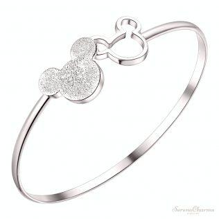 Silver Color Mickey Shape Charm Bracelet