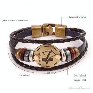 Men's Casual Zodiac Signs Bracelet