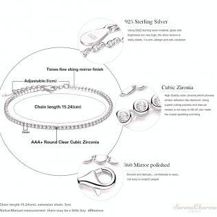 925 Sterling Silver Elegant Bracelet