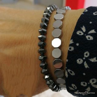 Geometric Hematite Bracelet