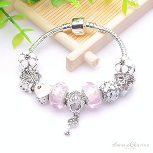 Charm Bracelet With Crystals