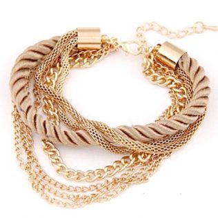 Multilayer Gold Chain Bracelet