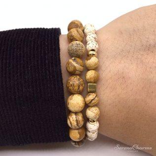 Natural Stone Mantra Bracelet